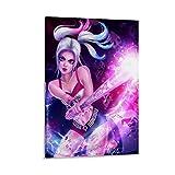 Póster de Harley Quinn con diseño de bate de béisbol, diseño del equipo de la muerte de Raptor cartel decorativo de la lona de arte de la pared de la sala de estar carteles de dormitorio de 50 x 75 cm