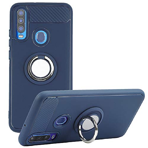8Wireless NUU Mobile X6 Case, Rotating Ring [Magnetic Car Mount] [360°Kickstand] Holder [Fashion] Soft TPU Protection Cover Case for NUU Mobile X6 (Blue)