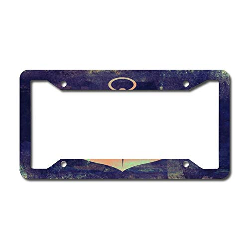 Clay Nautical Anchor License Plate Frame Aluminum Metal License Plate Frame Car Tag Novelty Home Decoration for Women Girls Men Boys 6.3 X 12.2 Inch