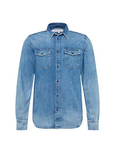 Pepe Jeans Hammond Camisa, Azul (Denim Wy9), Medium para Hombre