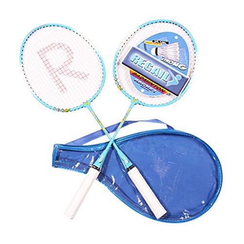 Amphia Badminton-Set, 2-Attacker, Kinder Anfänger Trainer Übung Badmintonschläger SetTitanium Legierung