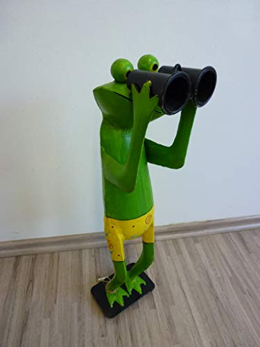 Frosch Fernglas Zaungucker Exner Spanner Figur Metall 50 cm 208370 F50
