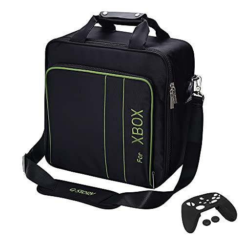 Tasche für Xbox Series X Series S, Tragetasche für Gaming Konsolen - Schutz Konsolentasche mit Schultergurt und Unterteilbaren Fächer für Zubehör und Games – Kompatibel mit Xbox Series X Series S