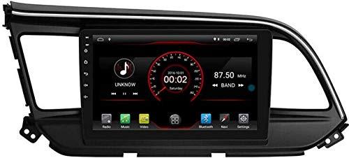 FGVBC Reproductor de DVD para automóvil GPS Unidad Principal estéreo Navi Radio Multimedia WiFi Compatible con Hyundai Elantra Avante 2019 2020 Soporte Control del Volante