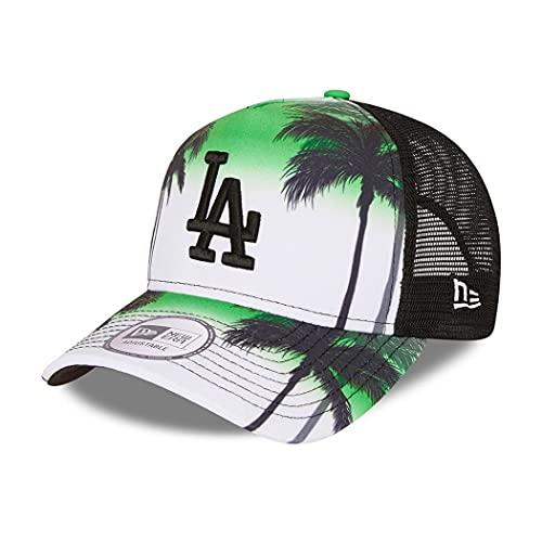 New Era Los Angeles Dodgers MLB Cap Trucker Cap verstellbar Basecap Kappe Snapback Summer City grün - One-Size