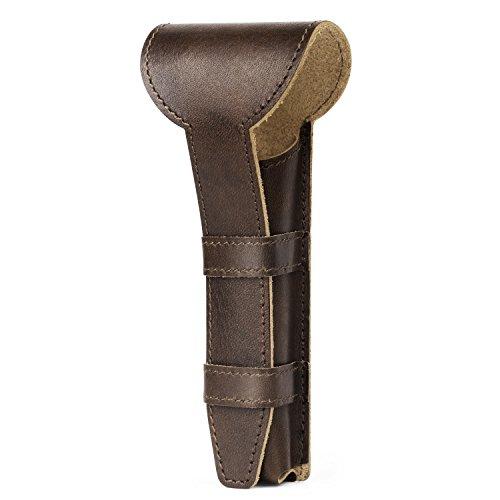 Luxspire Genuine Leather Double Edge Safety Razor Protective Case...