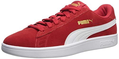PUMA - Smash V2 Uomo, Rosso (High Risk Red-puma White-puma Team Gold), 40 EU