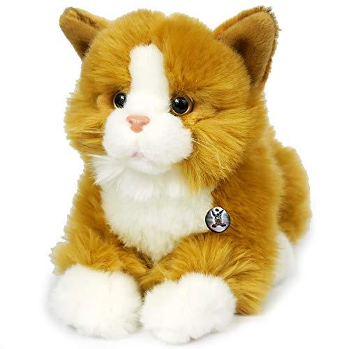 Gato Taryn rojo tumbado de peluche de 30 cm