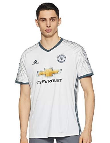 adidas 3 JSY Camiseta 3ª Equipación Manchester United 2015/16, Hombre, Blanco/Azul, S