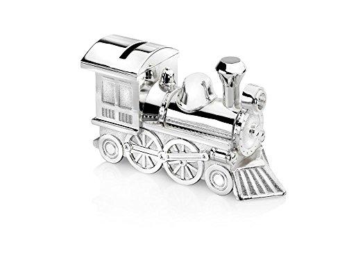 Spardose Zug/Lokomotive 15,5x5,5x8cm versilbert