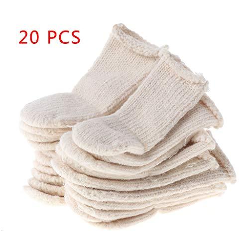 Lergo Lot de 20 protège-doigts en coton pour éviter les impressions de protection