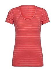 Icebreaker Merino Women's Tech Lite Scoop Neck T-Shirt w/Graphic, Lightweight, Merino Wool Jersey, Travel, Hiking