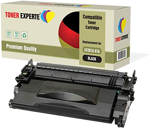 TONER EXPERTE® 2 Cartuchos de Tóner compatibles con HP CF287A (9000 páginas) Laserjet Enterprise M506dn M506n M506x Flow MFP M527c M527dn M527f M527dn Pro M501dn M501n