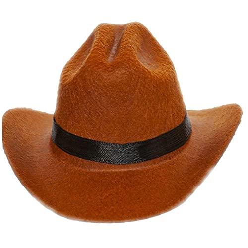 Onsinic 1 Unid Hombre Petría Divertido para Dog Cat Cat Westernow Cowboy Hat Photo Proporte Cap Perro Universal para Poste Calle Halloween Accesorios Pet Mascotas
