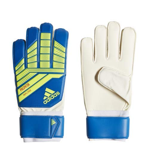 adidas Predatorator Top Training Goalie Gloves, Football Blue/Bold Blue/Solar Yellow, Size 8