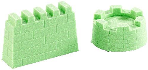 Playtastic Modellier-Sand: Kinetischer Sand, formbar und formstabil, fein, grün, 500 g (Bastelsand)