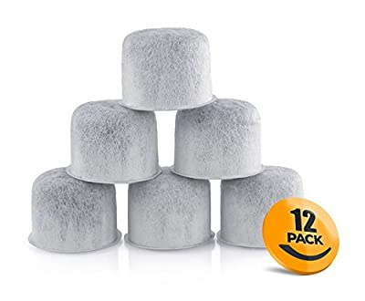 12 Pack K&J Replacement Capresso Charcoal Water Filters - Replaces 4440.90 Coffee Filters