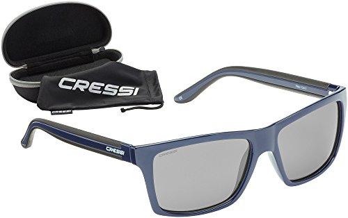 Cressi Rio Sunglasses Gafas de Sol Deportivo Polarizados, Unisex Adultos, Azul/Gris, Talla única