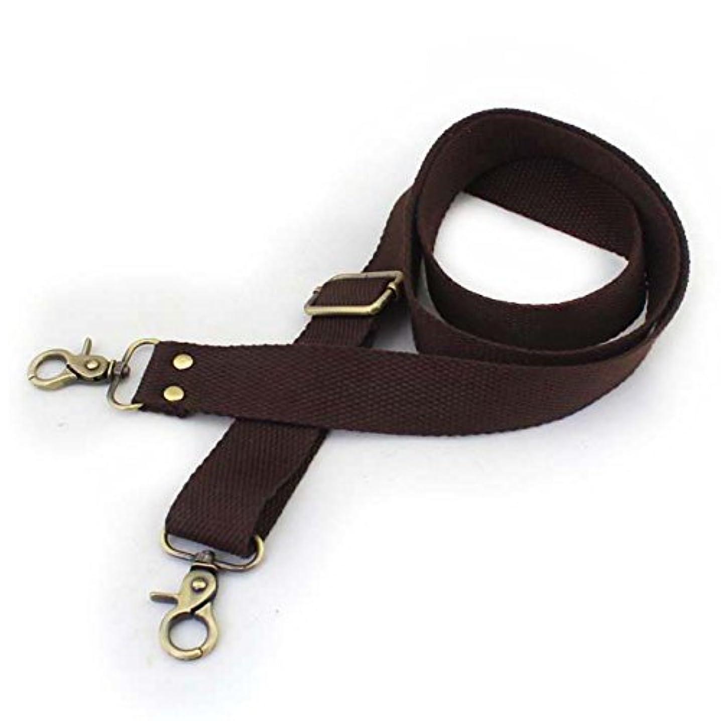 Wento 1pcs 31''-57'' Webbing Shoulder Cross Dark Brown Bag Strap,Replacement Cross Body Purse Straps,Dark Brown Canvas Purses Straps WTD34 (Dark Brown)