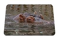 26cmx21cm マウスパッド (カバカバ動物水中の目) パターンカスタムの マウスパッド