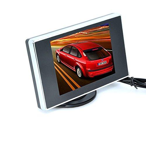 BW 8,89 cm TFT LCD da retrovisore colore Monitor videocamera & DVD, Mini Monitor a specchio per auto/Automobile