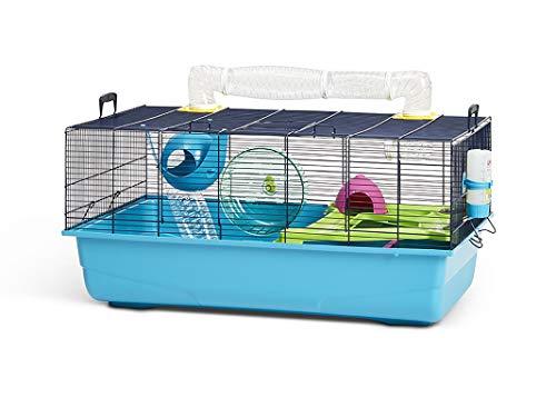 Savic Hamster Sky - Jaula para hámster (80 x 50 x 50 cm), Color Azul Marino