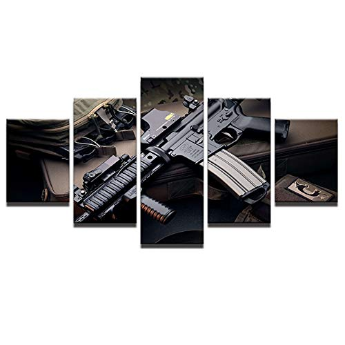 GVC 30X40X60X80 Modern Wall Art Pictures Home Decoration Living Room Canvas HD Print Painting 5 Panel Game Toys Gun Poster Drop Shipping