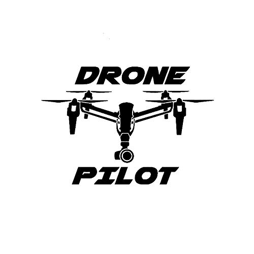 ZHYCT 2 Pezzi, Adesivi per Auto Drone Pilota UAV Nero Divertente Vinile Adesivo Decalcomania paraurti Auto, Adesivo per Finestra Auto Adesivi per Auto Riflettenti Impermeabili