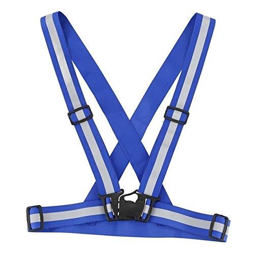 TGRTY Chalecos de Seguridad Alta Visibilidad Reflectante de Seguridad Cinturón Chaqueta for Running Correr Chaleco de Ciclismo de Orange Chalecos Reflectantes de Alta Visibilidad (Color : Blue)