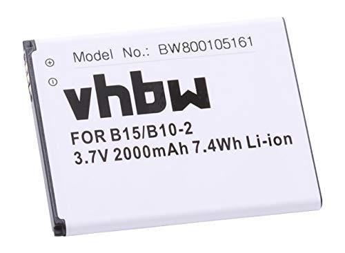 vhbw Li-Ion Akku 2000mAh (3.7V) für Handy, Smartphone, Telefon CAT B15 wie B10-2.