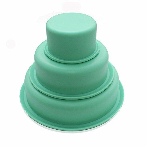 "ZWANDP Multifunción de tres rondas traje de pan de molde molde de pastel de silicona Pisa 2.8""4.5""6"""