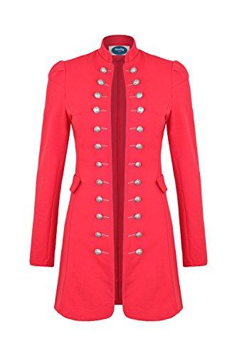 4tuality AO Massimo Military Coat Slim Fit Gr. XXXXL Rot