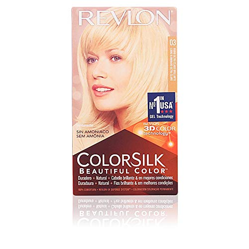 Revlon ColorSilk Tinte de Cabello Permanente Tono #3 Rubio Natural Ultra Claro