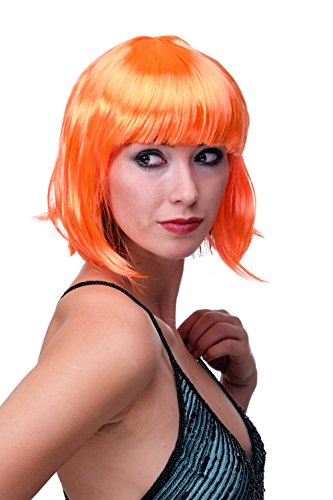 adquirir pelucas naranjas cortas