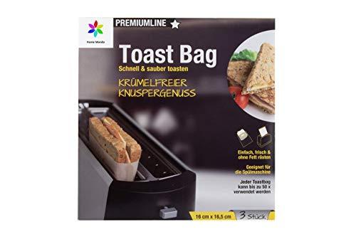 Sunmondo 3X Toastbag - Die Backpapier Tasche für den Toaster - Spüler geeignet, bis zu 50x verwendbar