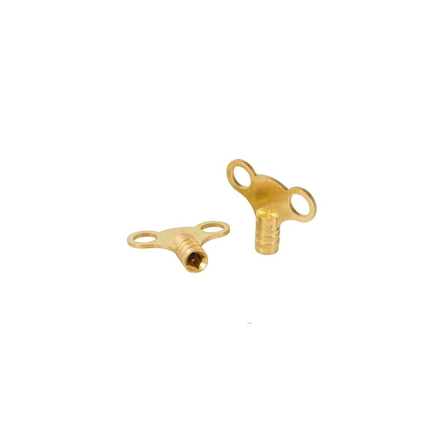 Dickie Dyer 476883 11.016 Brass Clock-Type Radiator Bleed Keys, Black, Set of 2 Pieces