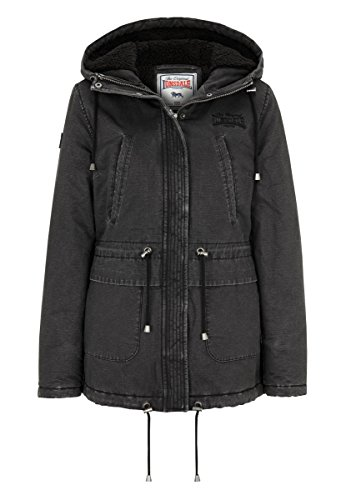 Lonsdale London Damen Honey Hill Winterjacket, Black, L