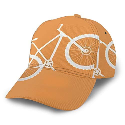 Baseballkappe für Mountainbike, Orange / Weiß, verstellbar, klassisch, sportlich, lässig, für Herren und Damen