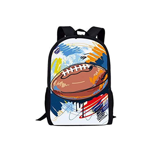 Mochila Escolar para niños con Pintura de Rugby, Mochila para niños, diseño de Pelota de Regalo, Mochila Escolar A