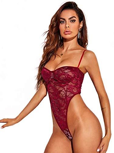 CMTOP Conjunto de Lencería Ropa Interior Mujer Sexy Picardias Underwear Conjunto de Tres Puntos de lencería