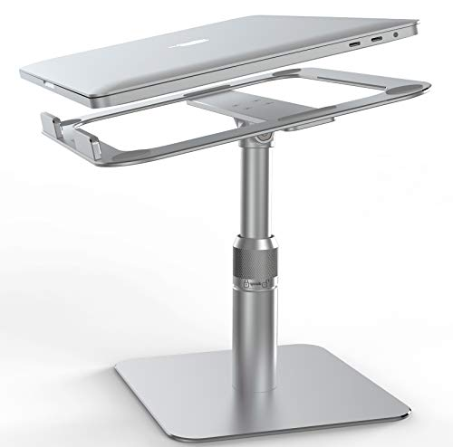 Swivel Laptop Stand,VMEILaptop Riser[Can 360 Rotating] Ergonomic Aluminum Adjustable Laptop Stand Compatible With MacBook/Air/Pro/Dell XPS/HP/All10'-17.3'laptops/All Tablets-Silver