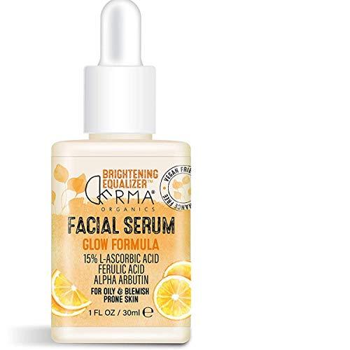 Derma Organics | Brightening Equalizer Facial Serum to Brighten & Nourished Skin, Organic Brightening Serum for the Face (1 Fl.Oz / 30 ml) (Facial Serum - Pack 1)