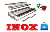 Inox - Escurreplatos para mueble con sujeción de muelles de 76 ml de acero...