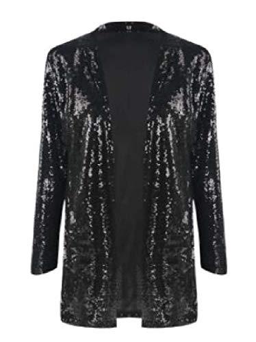 Sweetmini dames fit vest pailletten Glitter jas blazer jassen