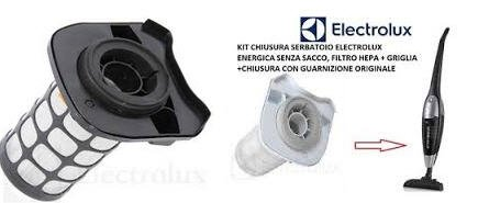 Complete HEPA filter kit voor elektrische bezem ELECTROLUX ENERGICA ZS204EV