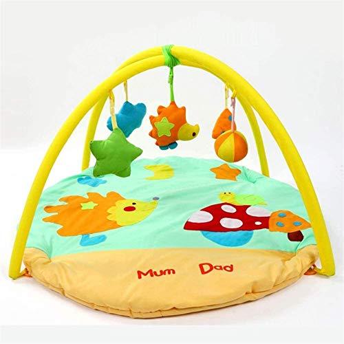 SCYMYBH Baby Playmat, Jugar Gimnasio, Juguete Suave, Animales Divertidos, Texturas, Discovery Alfombra para niños pequeños Patada recién Nacida y 0-36 Meses