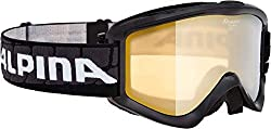 Alpina Sports Unisex - Adult Smash 2.0 R Scratch Goggles, Black, One Size
