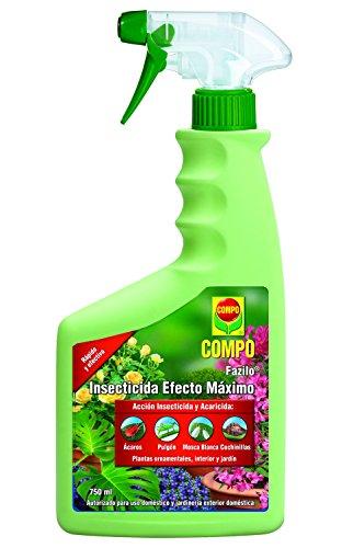 Compo Fazilo Efecto Óptimo, Acción insecticida y acaricida, Plantas Ornamentales, de Interior y jardín, Envase pulverizador, 26x11x5 cm