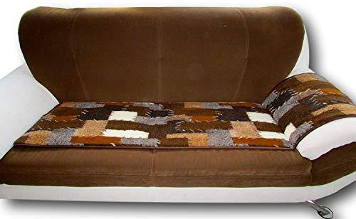 Alpenwolle Sesselschoner Patchwork 1 Stück 50x200cm Couchschoner Sesselauflage Sitzauflage Sesselüberwurf