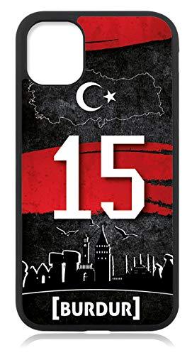 aina Kompatibel mit Samsung Galaxy A21s Hülle Silikon Schutzhülle Handyhülle Hülle Cover Türkei 15 Burdur Motiv Bild Schwarz